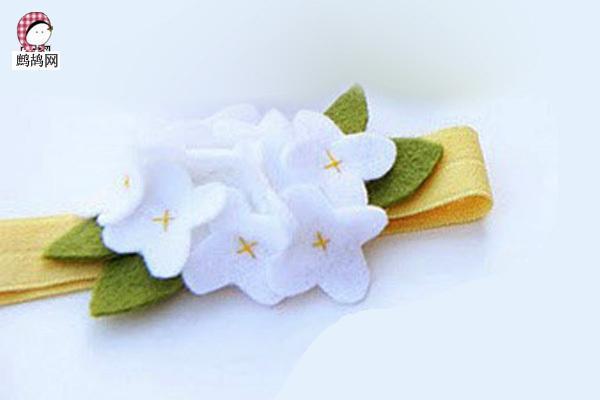 漂亮浪漫不织布手工布艺花 不织布玉兰花的DIY方法